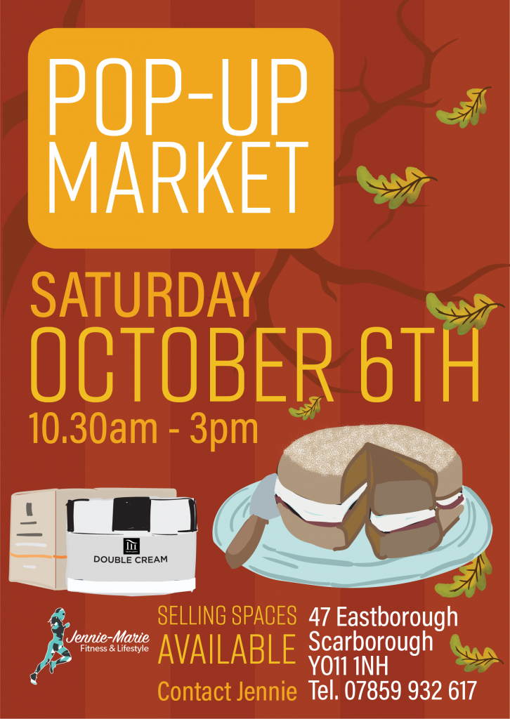 October 2018 Pop-Up Market in Scarborough, North Yorkshire
